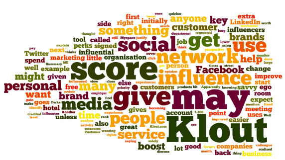 Klout Wordle